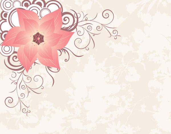 Stylish flowers Vector Graphic