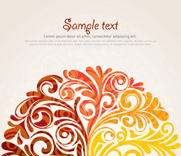 40 Swirly Curly Floral Based Vector Design Elements