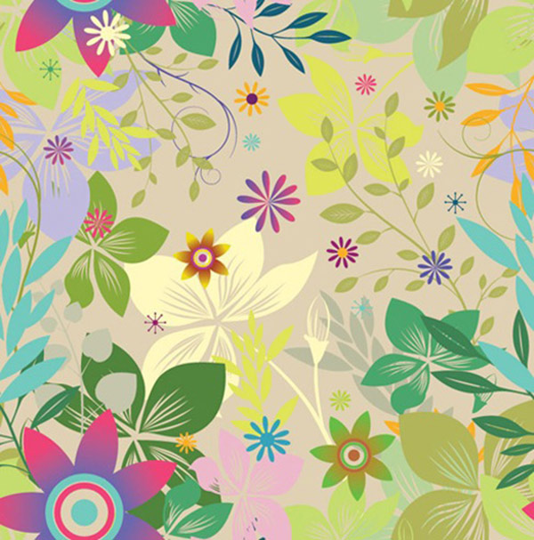 Seamless Floral Vectors