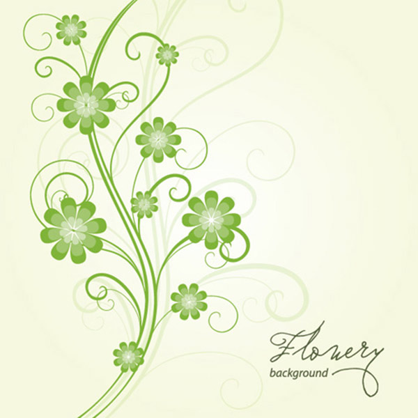 Flowery Background Vector Graphic