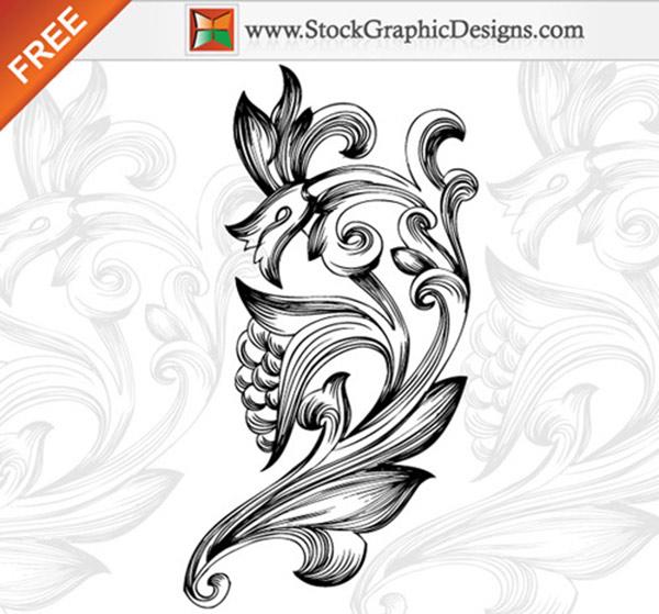 Free Ornamental Floral Elements Vector
