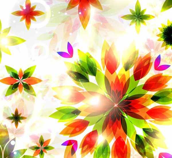 Abstract Flowers Background Vector Graphic