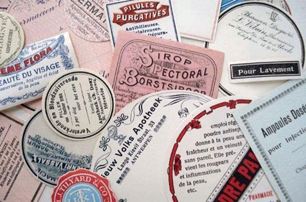Vintage Packaging – Pharmaceutical Labels