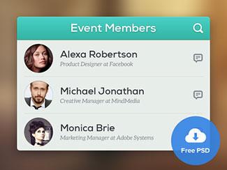 Event Members - Free PSD