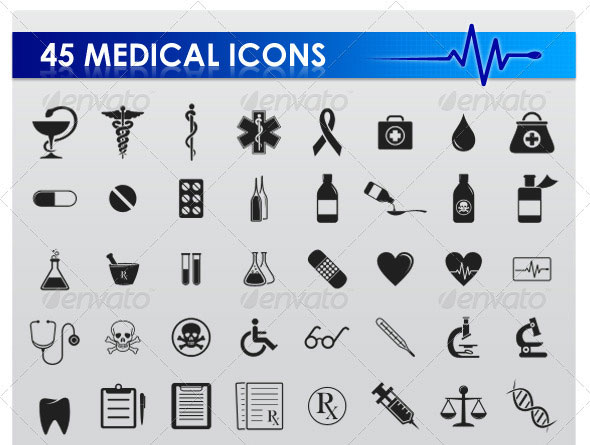 45 Medical icons
