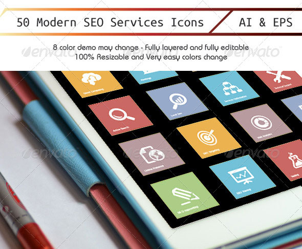 50 Model Seo Icon