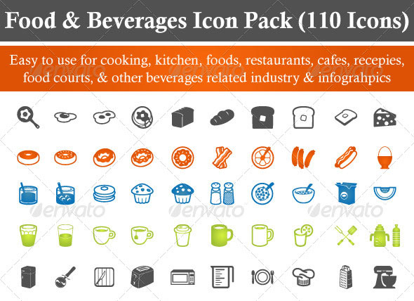 Food & Beverages Icon Pack