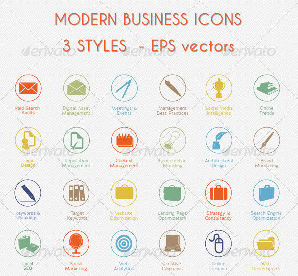 20 High Quality Icon Sets For Business Website Web