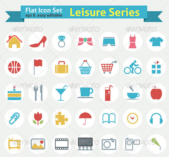 Flat Icon - Leisure Series