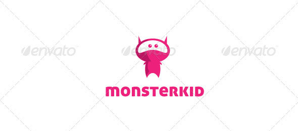Monster Kid Logo Template