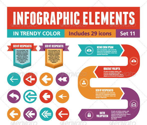 40 fancy infographic design elements web   graphic Electronic Circuit Symbols Identify Electronic Components Circuit Board