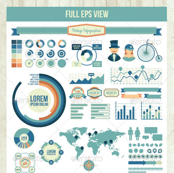 40 fancy infographic design elements  u2013 bashooka