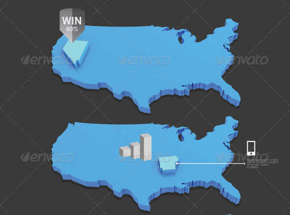 Infographic USA Map
