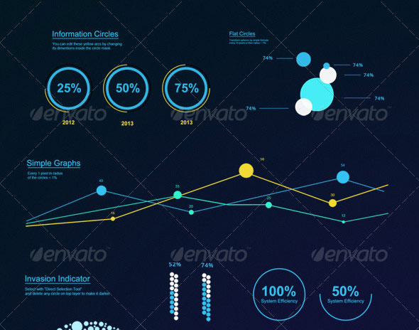Futuristic Infographic Elements Set