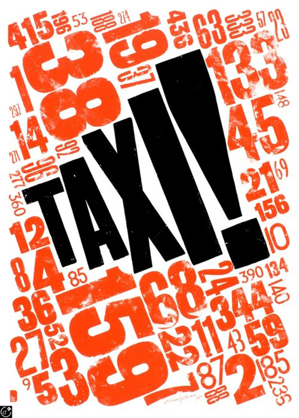 TAXI! by Alan Kitching.    (Via Debutart)