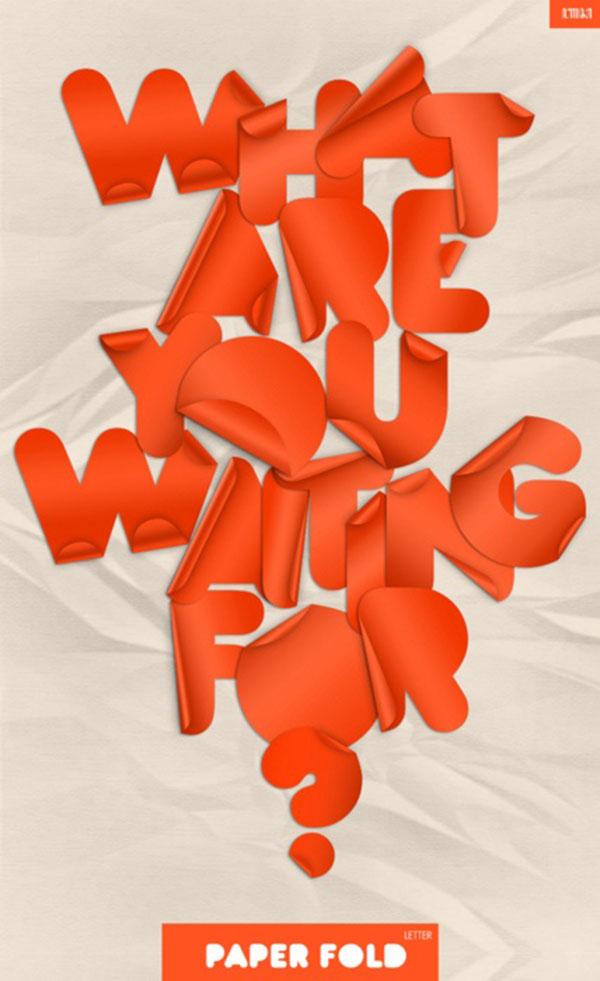 Paper Fold Font