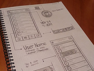 App Wireframe Sketch