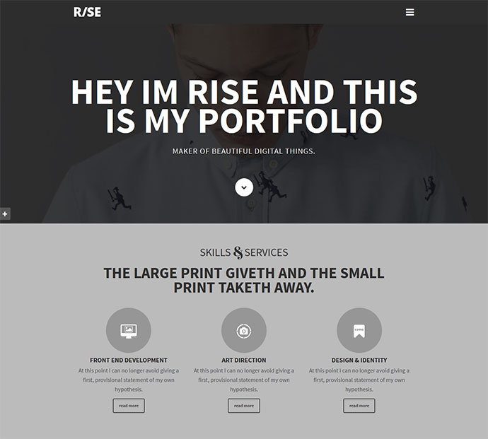 15 best parallax website templates 2016 web graphic design rise one page parallax maxwellsz