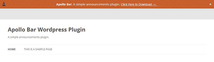 apolo wordpress notification bar plugin