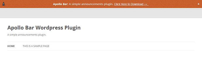 apolo wordpress notification bar plugin