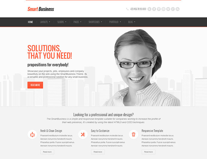 90 Best Business Website Templates 2013 | Web & Graphic Design ...