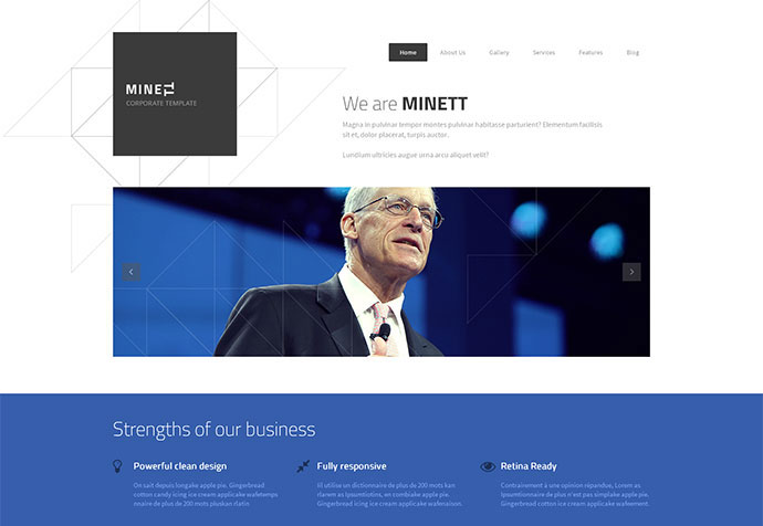 90 best business website templates 2013 web graphic design minett fbccfo Gallery