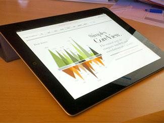 iPad stocks app