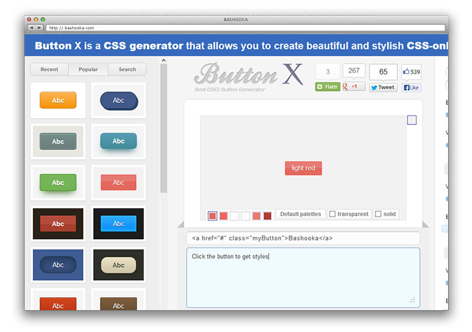 10 Generators & Tools To Create Modern CSS Buttons – Bashooka