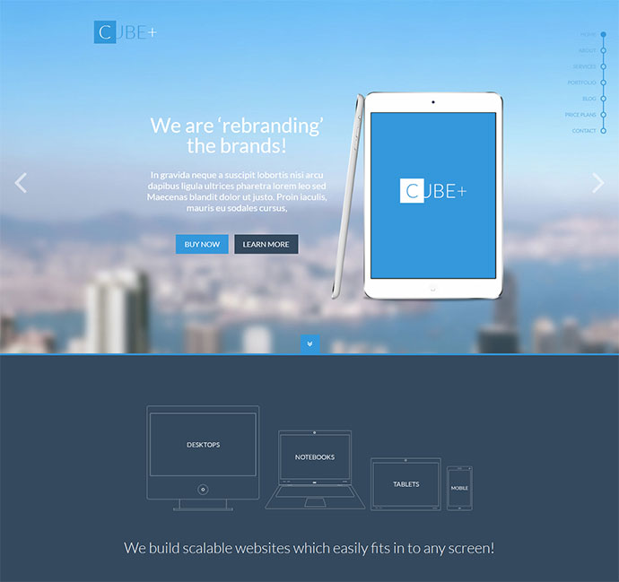 One-Page Parallax HTML Template