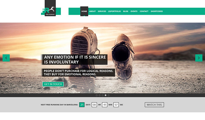 65 Flat PSD Website Templates | Web & Graphic Design | Bashooka