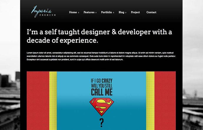 Imperia - Fullscreen Portfolio WordPress Theme