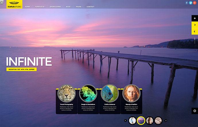 iCarus Fullscreen Studio for WordPress