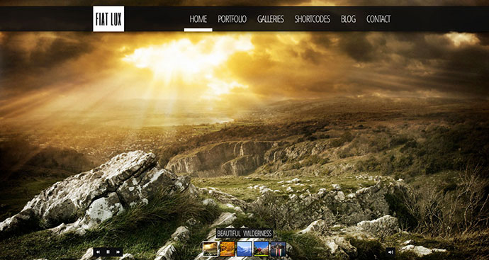 FIAT LUX - Fullscreen Image & Video Background WP