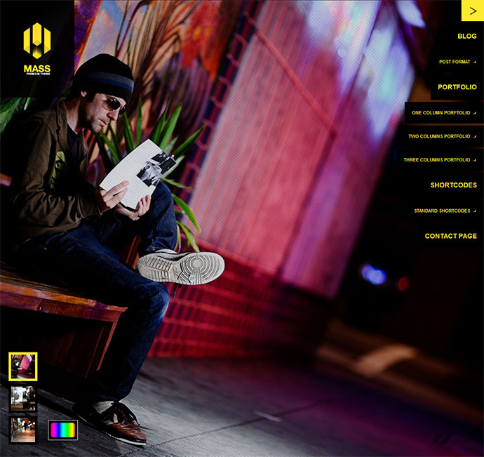 Mass - Ajax & Fullscreen Background Slider Theme
