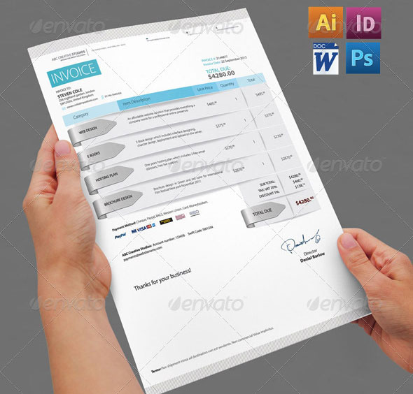 Pro Forma Invoice Definition  Creative Invoice  Proposal Template Designs  Web  Graphic  Receipt Templates Free Excel with Make A Receipt Excel Professional Invoice Pack Receipt For Chilli Word