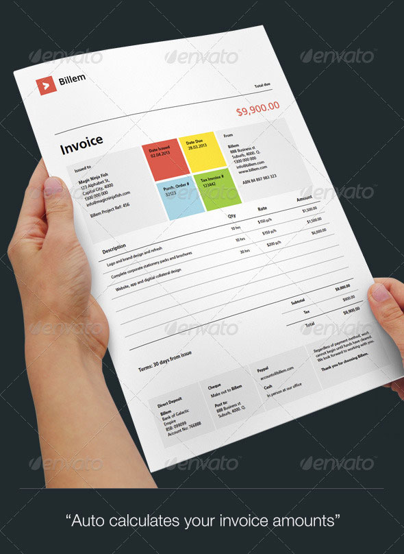 20 Creative Invoice & Proposal Template Designs – Bashooka