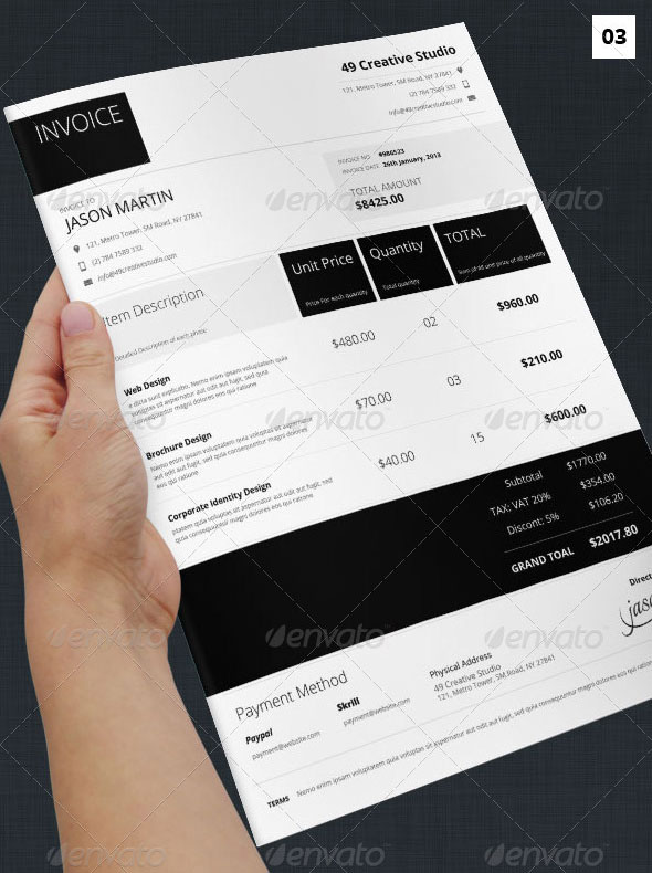 Metro Syle Business Invoice