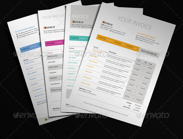 20 Creative Invoice & Proposal Template Designs | Web & Graphic Design ...