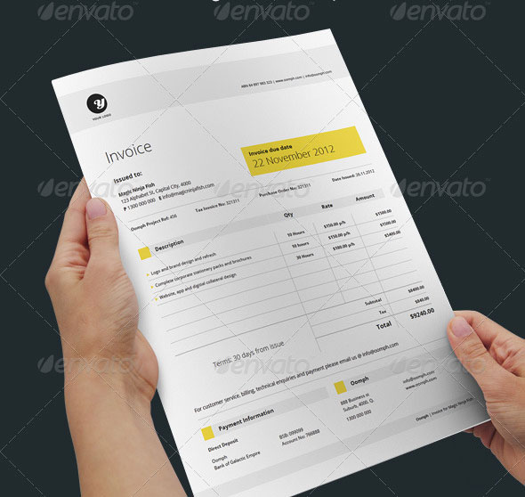 20 Creative Invoice Proposal Template Designs – Graphic Design Proposal Example