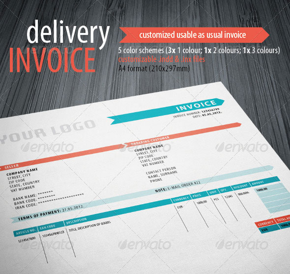 20 Creative Invoice Proposal Template Designs – Graphic Design Invoice Template