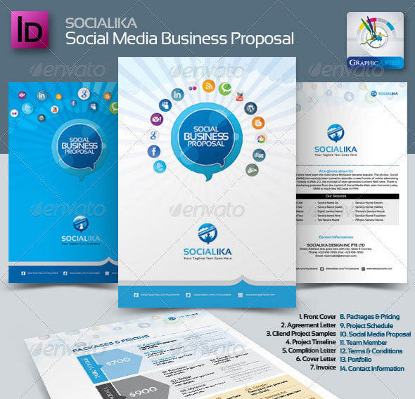 20 creative invoice proposal template designs web graphic socialika social media business wajeb Images