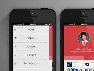 Pinterest Nav Screen