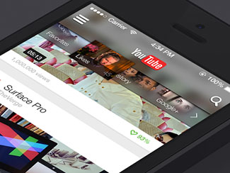 YouTube for iOS7 Concept