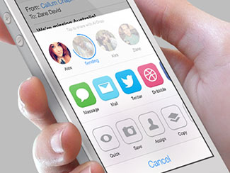 iOS7 AirDrop/Share