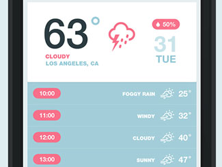 iOS7 Weather App (RP)