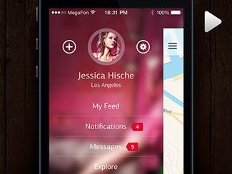 iOS7 Sidebar Concept (...