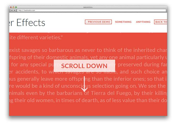 On Scroll Header Effects