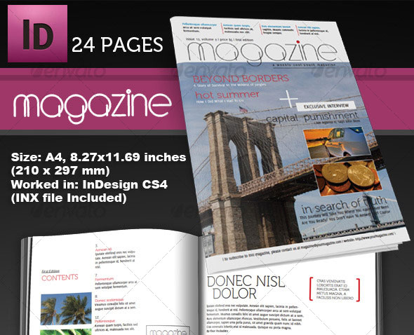 Indesign  Psd Magazine Cover  Layout Templates  Web  Graphic