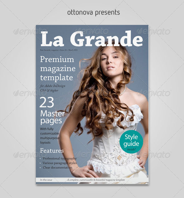 La Grande InDesign magazine template