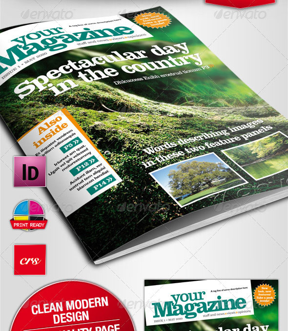 Vibrant Magzine Indesign Template
